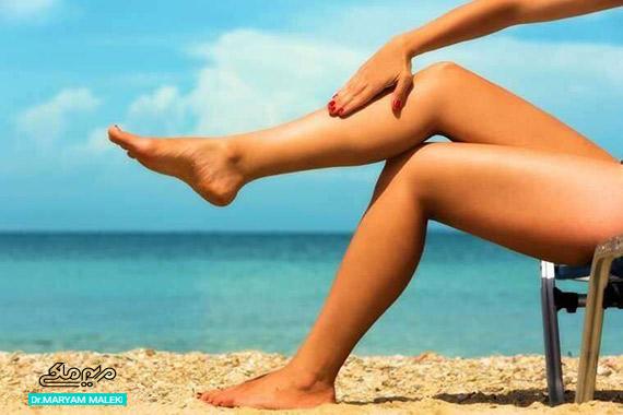 برنزه کردن پوست در آفتاب