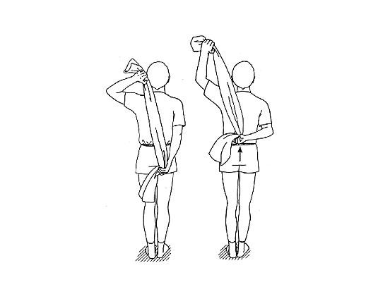 درمان درد شانه با حرکات کششی
