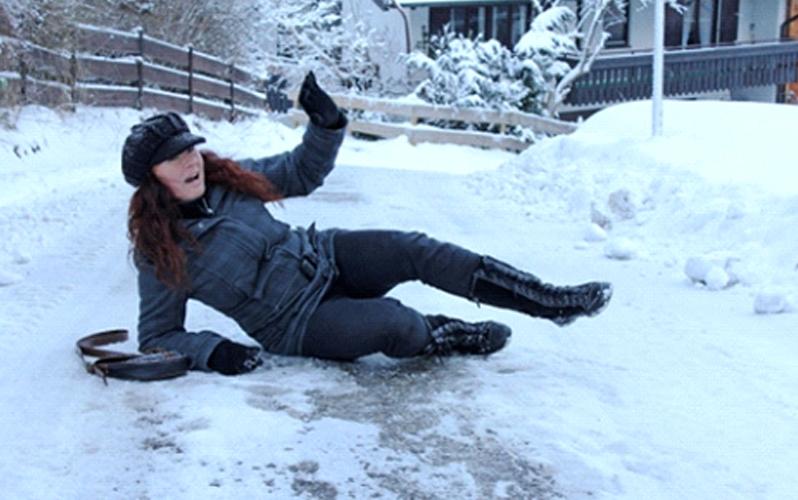 سر خوردن روی زمین های یخ زده ، پیشگیری از درد در سفر