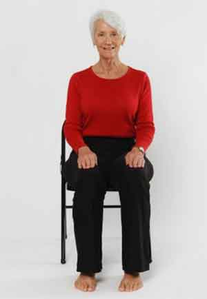 درمان آرتروز زانو با ورزشهای روی صندلی