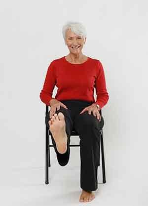 درمان آروتروز با ورزش بالا آوردن پا