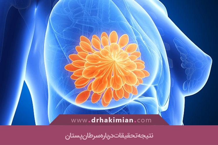 نتیجه تحقیقات درباره سرطان پستان