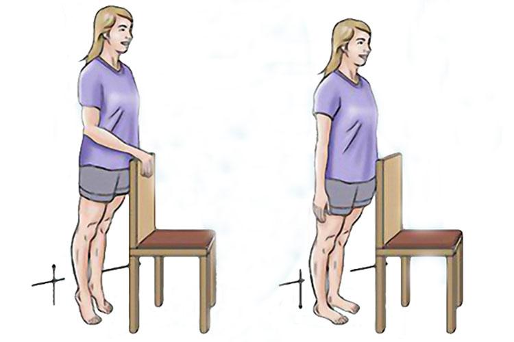 تقویت زانو با بالا بردن پاشنه