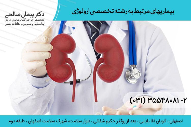 انواع بیماری های اورولوژی | متخصص اورورلوژِی در اصفهان