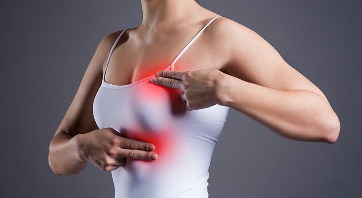 علائم پوستی سرطان سینه