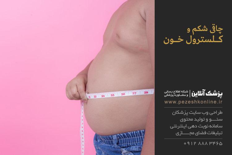 عوارض چاقی شکم